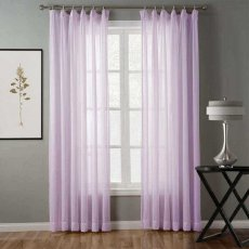 Hollow Mesh Herringbone Polyester Pinch Pleated Soft Sheer Curtain Drapery KLQMS