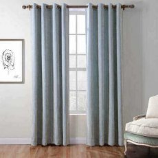 Polyester Chenille Jacquard Grommet Wave Soft Handfeel Panel Curtain Drapes