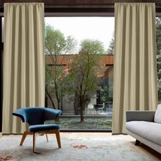 CAPRI Cotton Linen Polyester Curtain Drapery Custom