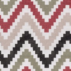 Ada Zigzag Print Fabric Swatch Polyester Cotton, Refundable For Order Amount Over $399