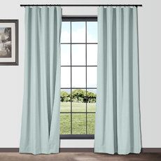 ISABELLA Cotton Linen Curtain Drapery Custom