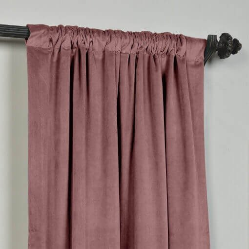Velvet Curtain Drape Panel 3 Inch Rod Pocket with Blackout Lined Birkin