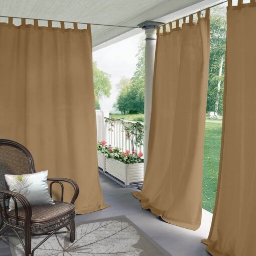 Tab Top Blackout Outdoor Curtain Edoardo