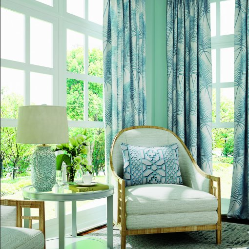 Leaves Print Curtain Window Darpe Elenor