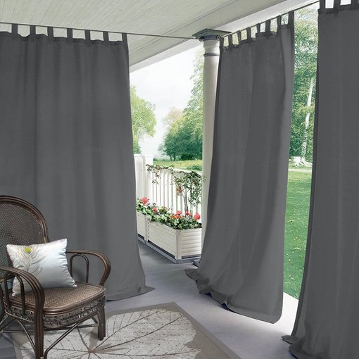 Blackout Waterproof Outdoor Curtain Patio Drapery Custom ROSE
