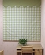 Plaid Print Polyester Cotton Roman Shade In Green
