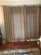 Pinch Pleated Faux Linen Window Curtain with Blackout Lined LIZ