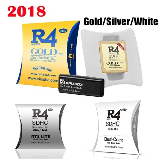 2018 R4ISDHC RTS Lite Silver Gold White Flashcard for Nintendo New 3DS XL