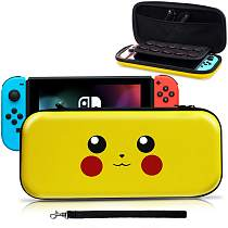 Nintendo Switch Carrying Case,[Design for Let's Go Pikachu/Eevee Pouch][Full Protective] for Pokemon Switch Case