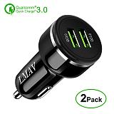 Fast Charge 3.0 Car Charger, 48W 6A Dual QC