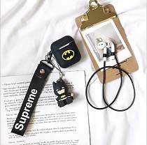 Airpods Apple Wireless Bluetooth Headset Tide Brand Batman Silicone Anti-Shoulder Bag