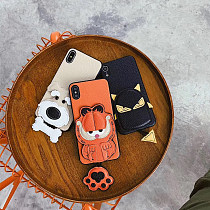 Coffee Cat IphoneX Case Stereoscopic All-inclusive Anti-lost
