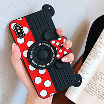 Mickey Camera IphoneX Case Creative Bracket Silicone Protective Cover