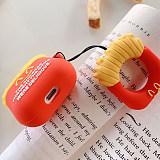 Donald Duck AirPods Cover Bluetooth Wireless Headset Set Hamburger Fries