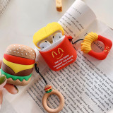 Donald Duck AirPods Cover Bluetooth Wireless Headset Set Hamburger Fries