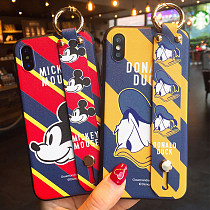 Donald Duck iphone X Case Mickey Wristband Lanyard Bracket