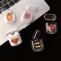 Spider-Man Airpods1/2 Case Bluetooth Headset Superman Cover