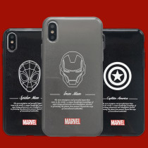 Cool American Captain Iron Man iPhone case The Avengers Soft Matte Slim Case iPhone 6 7 8 Plus X Xs Max Xr cover