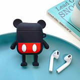 Disney Mickey Minnie Airpods case soft Silicone Devil horn  Hairy  Airpods Earphone Protective Cover
