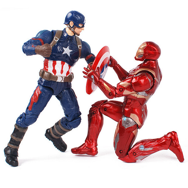 The US Captain America 3 Avengers League full set of 11 joint movable models Iron Man toy card