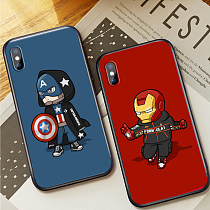 Marvel Icon man iPhone Case Avengers Soft silicone iPhone 7 8 plus X Xs XsMax Case Cover