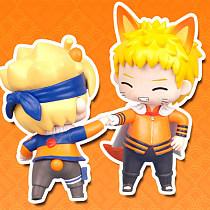 Naruto Action Figure Toys Q style Uzumaki Naruto Naruto's Blogger PVC Model Doll Collection