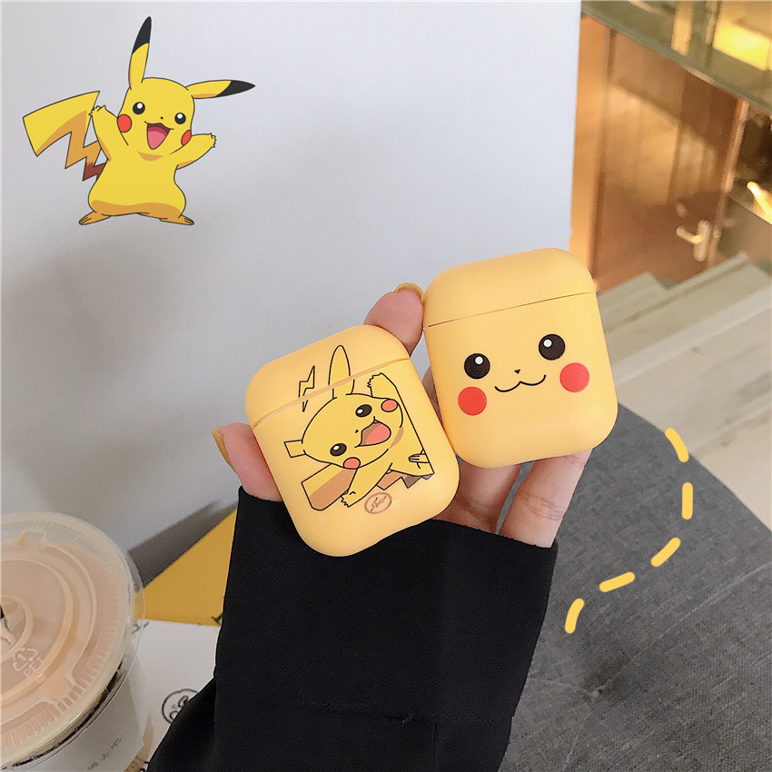 Yellow Pokemon Apple Airpod Case Cute