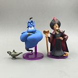 9pcs/set princess figure toy Jasmine Evil Monkey Aladdin Lamp PVC Action Figure Model Dolls