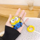 Cartoon Minions Apple Airpods case Wireless Bluetooth Silicone Shockproof Protective Cover