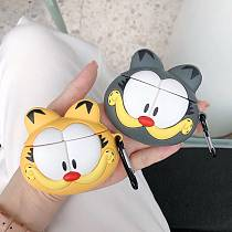 3D Cartoon Garfield Airpods Case wireless Bluetooth silicone earphone headphone cover