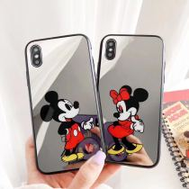 Cartoon Mickey Minnie iPhone Case Disney iPhone X XS MAX XR 7 8 Plus Mirror case