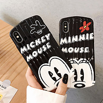 Minnie Mickey iPhone Case Disney Trunk pattern Soft TPU iPhone X XS MAX XR 8 7 plus Cover