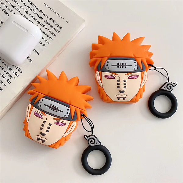Naruto Payne Airpods Case Finger Ring Strap Silicone Earphone Headphones Cover