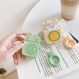 Polaroid Camera Pattern AirPods Case Cute 3D Cartoon bear Headphone Protective Cover