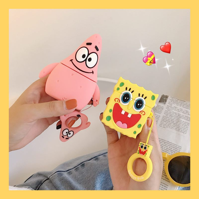 Buy Apple wireless Bluetooth Airpods2 case Spongebob cover