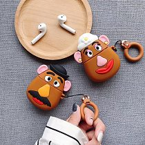 Toy Story 4 Potato Couple Airpods Wireless Bluetooth Headset Silicone Case