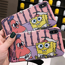 SpongeBob Apple iPhone Case 6s plus Soft Silicone  Anti-fall Shell