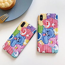 Rainbow Bear Iphone 7/8p Case Cute Defender Protective Case Cover for Apple Iphone X/XR/XSMAX
