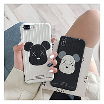 Couples Bear apple phone case iphone xr / xs Max / 6s / 7/8plus couples Silica gel shell