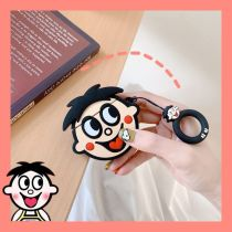 Silicone Airpods Case ins Cute Cartoon Smile Shockproof Protective Apple Charging shell