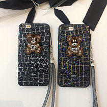 Crystal Diamond Bear iPhone Case Brand Soft TPU iPhone X XS MAX XR 8 7 plus Cover
