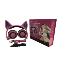 Cat ear glowing foldable headset wireless Bluetooth headset game accessories