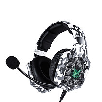 Camouflage E-sports gaming Headphones PS4 leather case earplugs headset cable