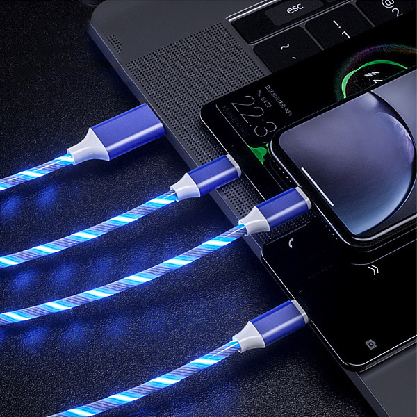 Aluminum alloy streamer data cable  TypeC intelligent power cut quick Charging line