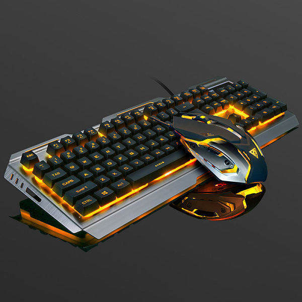 Keyboard and mouse set cool style lighting fashion esports computer accessories