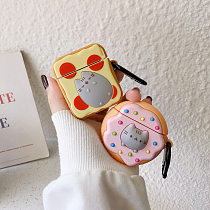 Cute 3D AirPods case Donut Toast Cat Apple Bluetooth Headset Case
