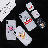 Apple iPhone xs Max Transparent Phone Case Airpods Bluetooth Headset Set