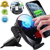 15W Wireless Car Charger, CD Slot Car Phone Mount