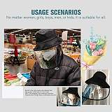 Epidemic Protection Hat Anti Saliva Fog UV Hat with Face Shield Face Isolation Anti-Pollution Hat 2 in 1 Masks