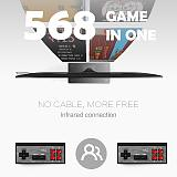Video Game Console Built in 568 Classic Games Mini Retro Console Wireless Controller HDMI Output Dual Players